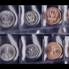 Moedas antigas de África: RUANDA SET 6 MONEDAS 1 5 10 20 50 100 AMAFARANGA 2003 - 2007 SC UNC. Lote 219875335