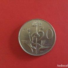 Monnaies anciennes d'Afrique: SUDÁFRICA 50 CENTAVOS 1970 S/C. Lote 174211162