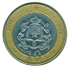 Moedas antigas de África: MARRUECOS 10 DIRHAMS AH 1423 - 2002 ( MBC ) Y # 110. Lote 174509760