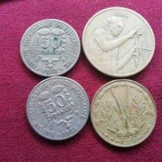 Monedas antiguas de África: AFRICA FRANCÓFONA. LOTE DE 4 MONEDAS. Lote 174649368