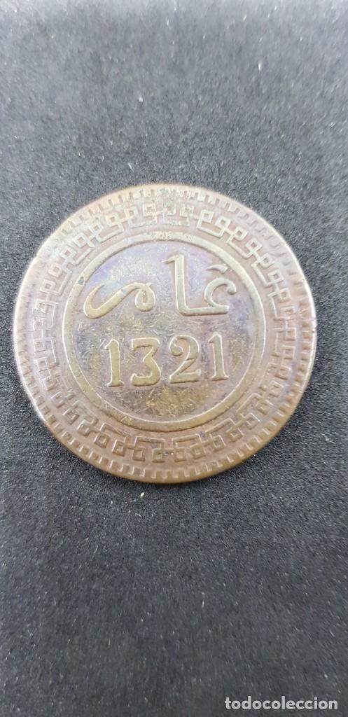 Monedas antiguas de África: 10 MAZUNAS MARRUECOS ABD AL-AZIZ 1321 BRONCE - Foto 2 - 175201089