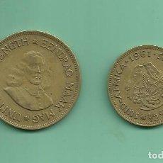 Monedas antiguas de África: SUDAFRICA. 1/2 Y 1 CENT 1961. Lote 175663043