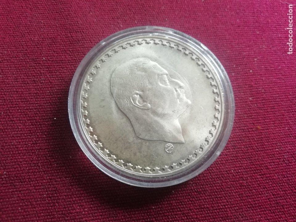 EGIPTO. NASSER. POUND DE PLATA. 25 GRAMOS (Numismática - Extranjeras - África)