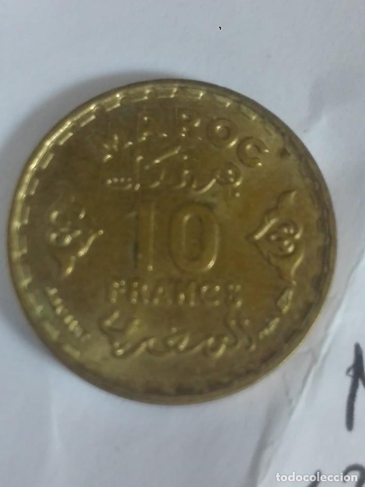 Monedas antiguas de África: Moneda sin circular Marruecos 10 francos 1371 1952 3G - Foto 2 - 176411598