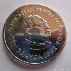 Monedas antiguas de África: TONGA . 10 PANGA DE PLATA MUY RAROS . TTAMAÑO DE UNA ONZA . S C. Lote 176442185