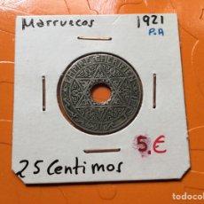 Monedas antiguas de África: X-1032 )MARRUECOS,,25 CENTÍMOS 1921,,P,A, EN ESTADO MUY BUENA CONSERVACIÓN. Lote 177137095
