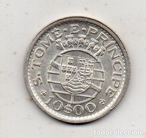 SANTO TOMÉ Y PRÍNCIPE. 10 ESCUDOS. AÑO 1951. PLATA. SIN CIRCULAR. (Numismática - Extranjeras - África)