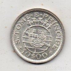Monedas antiguas de África: SANTO TOMÉ Y PRÍNCIPE. 10 ESCUDOS. AÑO 1951. PLATA. SIN CIRCULAR.. Lote 177195068