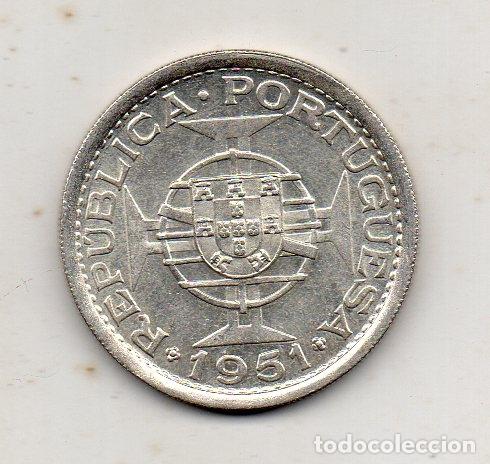Monedas antiguas de África: Santo Tomé y Príncipe. 10 Escudos. Año 1951. Plata. Sin Circular. - Foto 2 - 177195068