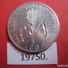 Monedas antiguas de África: RUANDA 1 FRANCO 1985 RWANDA . Lote 177529078