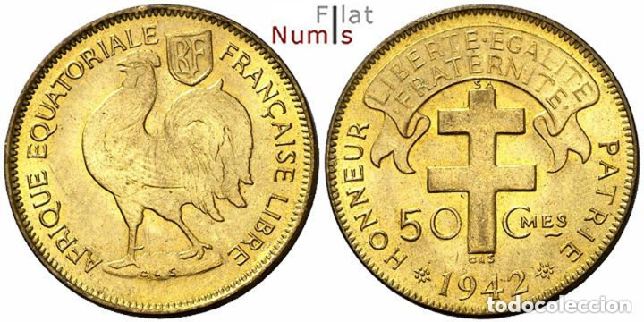 AFRICA ECUATORIAL FRANCESA - 50 CENTS - 1942 - NO CIRCULADA (Numismática - Extranjeras - África)