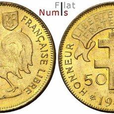 Monedas antiguas de África: AFRICA ECUATORIAL FRANCESA - 50 CENTS - 1942 - NO CIRCULADA. Lote 177939704