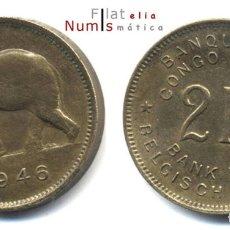 Monedas antiguas de África: CONGO BELGA - 2 X 2 FRANCOS - 1946/1947 - E.B.C. - BRONCE. Lote 178086502