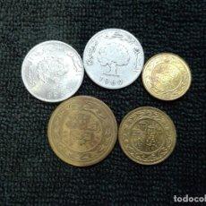 Monedas antiguas de África: 5 MONEDAS TÚNEZ. Lote 178138093