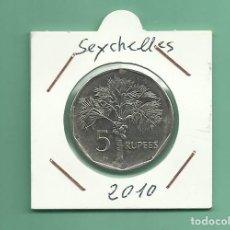 Monedas antiguas de África: SEYCHELLES. 5 RUPEES 2010. Lote 180032196