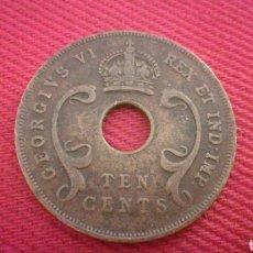 Monedas antiguas de África: 10 CENTS DE ÁFRICA DEL ESTE BRITÁNICA 1942. Lote 181571516