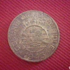 Monedas antiguas de África: 1 ESCUDO DE MOZAMBIQUE 1945. Lote 181737972