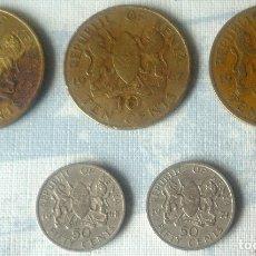 Monedas antiguas de África: LOTE DE 5 MONEDAS DE KENYA. Lote 182477258