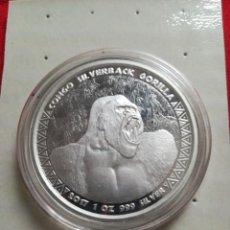 Monedas antiguas de África: 1 OZ PLATA CONGO 2017. Lote 183549728