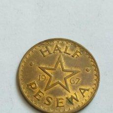 Monedas antiguas de África: MONEDA DE HALF PESEWA 1967 GHANA. Lote 183583456
