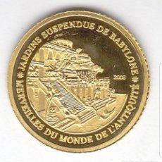 Monedas antiguas de África: COSTA DE MARFIL, 1500 FRANCOS, 2006, 'JARDINES SUSPENDIDOS DE BABILONIA', ORO. Lote 183676346