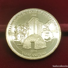 Monedas antiguas de África: SUAZILANDIA SWAZILAND 5 EMALANGENI GOLDEN JUBILEE 2018 KM NEW UNC. Lote 194377111