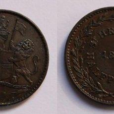 Monedas antiguas de África: SAINT HELENA HALF PENNY 1821 . Lote 183893883