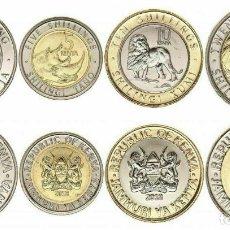 Monedas antiguas de África: SERIE KENIA 20181, 5,10 Y ,20 SCHILLING ( NUEVOS MODELOS ) ANIMALES. Lote 183898392
