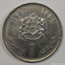 Moedas antigas de África: MONEDA MARRUECOS, 1 DIRHAM 1987. Lote 185925806