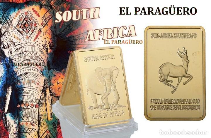 SUDAFRICA LINGOTE ORO 24 KILATES 34 GRAMOS ( HOMENAJE AL ELEFANTE Y A LA GACELA ) Nº4 (Numismática - Extranjeras - África)