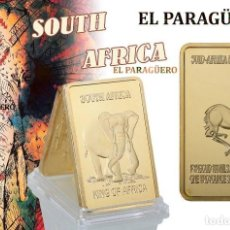 Monedas antiguas de África: SUDAFRICA LINGOTE ORO 24 KILATES 35 GRAMOS ( HOMENAJE AL ELEFANTE Y A LA GACELA ) Nº5. Lote 186093496
