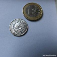Monedas antiguas de África: MONEDA DE PLATA DE 6 PENIQUES DE SUDÁFRICA AÑO 1943 MBC. Lote 187421362