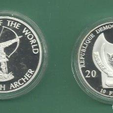 Monedas antiguas de África: REPÚBLICA.DEM CONGO. 10 FRANCS 2010. ARQUERO INGLES. BAÑO DE PLATA. Lote 187469065