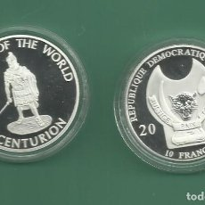 Monedas antiguas de África: REPÚBLICA.DEM CONGO. 10 FRANCS 2010. CENTURION. BAÑO DE PLATA. Lote 187469373