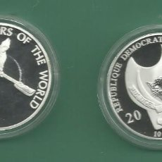 Monedas antiguas de África: REPÚBLICA.DEM CONGO. 10 FRANCS 2010. GUERRERO CHINO. BAÑO DE PLATA. Lote 187469463