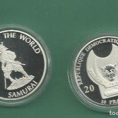 Monedas antiguas de África: REPÚBLICA.DEM CONGO. 10 FRANCS 2010. SAMURAI. BAÑO DE PLATA. Lote 187469731