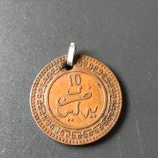 Monedas antiguas de África: MARRUECOS MEDALLA MONEDA ANTIGUA 10 MAZUNAS DE ABD. AL-AZIZ. AÑO 1321 DE LA HÉGIRA. Lote 188482807