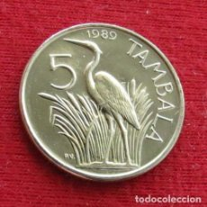 Monedas antiguas de África: MALAWI 5 TAMBALA 1989 AVES UNC. Lote 236221410