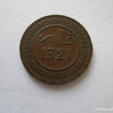 Monedas antiguas de África: MARRUECOS * 10 MAZUNAS 1321 BRONCE 1903-05. Lote 188813546
