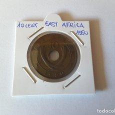 Monedas antiguas de África: 10 CENTS EAST ÁFRICA 1950. Lote 190058780