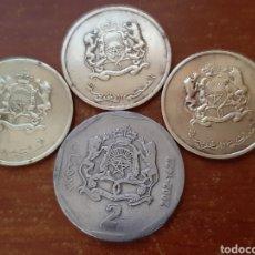 Monedas antiguas de África: 4 MONEDAS MARRUECOS (DIRHAM). Lote 190981605