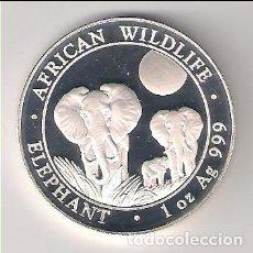 Moedas antigas de África: MONEDA DE 100 SHILLLINGS (CHELINES) DE SOMALIA DE 2014. PLATA. PROOF (ME1471). Lote 191088405