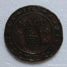 Monedas antiguas de África: ANGOLA 1/2 MACUTA 1763 RESELLO. Lote 185689751