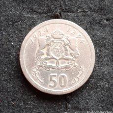 Monedas antiguas de África: MONEDA PLATA MARROQUÍ 1974 1394. DESCONOZCO MAS INFORMACIÓN SOBRE ÉSTA MONEDA.. Lote 193855410