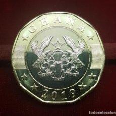 Monedas antiguas de África: GHANA 2 CEDIS 2019 KM NUEVO BIMETÁLICA SC UNC. Lote 277680543