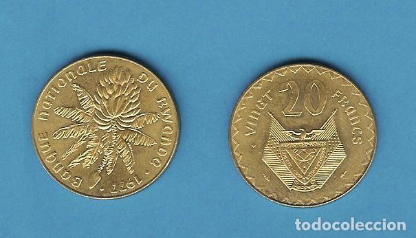 RWANDA. 20 FRANCS 1977 (Numismática - Extranjeras - África)