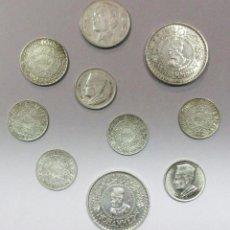 Monedas antiguas de África: MARRUECOS CONJUNTO DE 10 MONEDAS ANTIGUAS EN PLATA. LOTE 2297. Lote 194373691