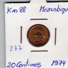 Monedas antiguas de África: MOZAMBIQUE 20 CENTIMOS 1974. Lote 194384993
