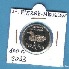 Monedas antiguas de África: ST PIERRE-MIQUELON. 100 FRANCS 2013. Lote 194512420