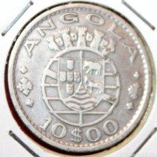 Monedas antiguas de África: ANGOLA, COLONIA PORTUGUESA. 10 ESCUDOS 1952. PLATA. Lote 194674333